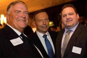 Australian Prime Minister Tony Abbot and Ambassador Beasley